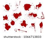 blood splat splash spot ink... | Shutterstock .eps vector #1066713833