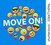 move on  label or sign for... | Shutterstock .eps vector #1066714046