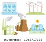 clean energy icons isolated on... | Shutterstock .eps vector #1066717136