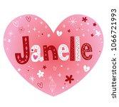 janelle   impressive feminine...   Shutterstock .eps vector #1066721993