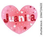 juanita feminine given name   Shutterstock .eps vector #1066724633
