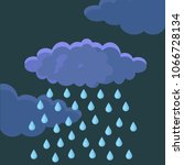 white clouds with rain isolated ... | Shutterstock .eps vector #1066728134