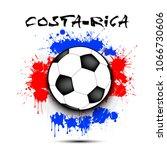 soccer ball against the... | Shutterstock .eps vector #1066730606