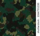 seamless forest green striped... | Shutterstock .eps vector #1066731230