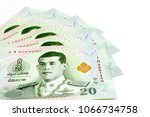 new thai 20 baht banknotes with ...   Shutterstock . vector #1066734758