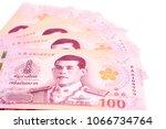 new thai 100 baht banknotes...   Shutterstock . vector #1066734764