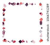 rhombus frame minimal geometric ... | Shutterstock .eps vector #1066741289