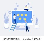 rating  feedback  comments... | Shutterstock .eps vector #1066741916