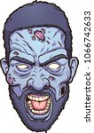 black man angry zombie head.... | Shutterstock .eps vector #1066742633