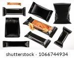 black polymer packaging for...   Shutterstock .eps vector #1066744934