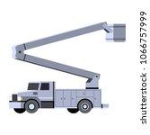 minimalistic icon bucket truck... | Shutterstock .eps vector #1066757999