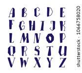 hand lettering alphabet set... | Shutterstock .eps vector #1066758020