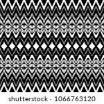 ikat seamless pattern. vector...   Shutterstock .eps vector #1066763120
