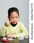 close up of asian kid learning... | Shutterstock . vector #1066766774