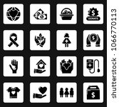 charity icons set. simple... | Shutterstock .eps vector #1066770113