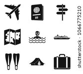 river recreation icons set.... | Shutterstock .eps vector #1066775210