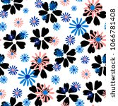 small floral pattern. cute... | Shutterstock .eps vector #1066781408