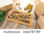 home sweet home welcome mat ... | Shutterstock . vector #1066787789
