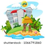 building on the beautiful... | Shutterstock .eps vector #1066791860