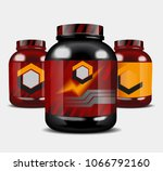 sports nutrition   protein whey.... | Shutterstock .eps vector #1066792160