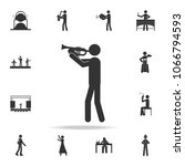 trumpet player icon. detailed... | Shutterstock .eps vector #1066794593