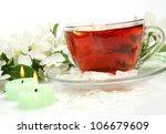 tea and flowers | Shutterstock . vector #106679609