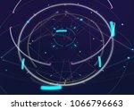 abstract techno futuristic... | Shutterstock . vector #1066796663