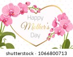 mothers day greeting card... | Shutterstock .eps vector #1066800713