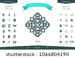 traditional geometric oriental... | Shutterstock .eps vector #1066804190