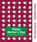 beautiful floral happy mother's ...   Shutterstock .eps vector #1066811063