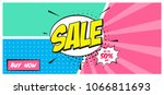 sale banner template design.... | Shutterstock .eps vector #1066811693