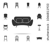 sofa icon. detailed set of... | Shutterstock .eps vector #1066811933