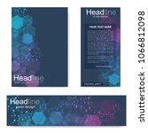 set flyer  brochure size a4... | Shutterstock .eps vector #1066812098