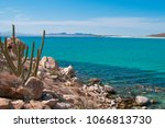 cactus and mountains of isla... | Shutterstock . vector #1066813730
