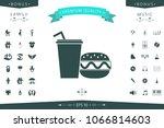 hamburger or cheeseburger ...   Shutterstock .eps vector #1066814603