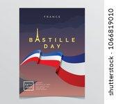bastille day la parisian poster | Shutterstock .eps vector #1066819010