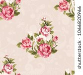 seamless floral pattern with... | Shutterstock .eps vector #1066820966