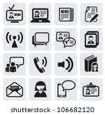 communication icons | Shutterstock .eps vector #106682120