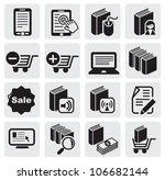 e book icons | Shutterstock .eps vector #106682144
