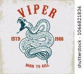 viper snake illustration on... | Shutterstock .eps vector #1066821836