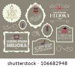 vintage borders frames vector... | Shutterstock .eps vector #106682948