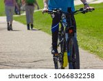 cyclist ride on holiday at... | Shutterstock . vector #1066832258