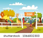 Zoo Vector Illustration Or...