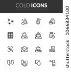 outline black icons set in thin ... | Shutterstock .eps vector #1066834100