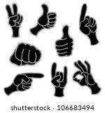 vector. hands. | Shutterstock .eps vector #106683494
