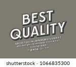 vector rotated sign best... | Shutterstock .eps vector #1066835300