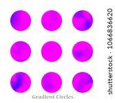 round gradient set of vibrant...   Shutterstock .eps vector #1066836620