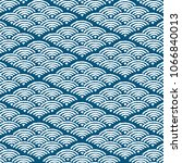 japanese pattern vector. wave... | Shutterstock .eps vector #1066840013