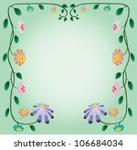 ornament of beautiful flowers... | Shutterstock .eps vector #106684034