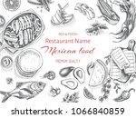 vector illustration sketch  ... | Shutterstock .eps vector #1066840859